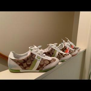 Coach tennis shoes! Two pair!